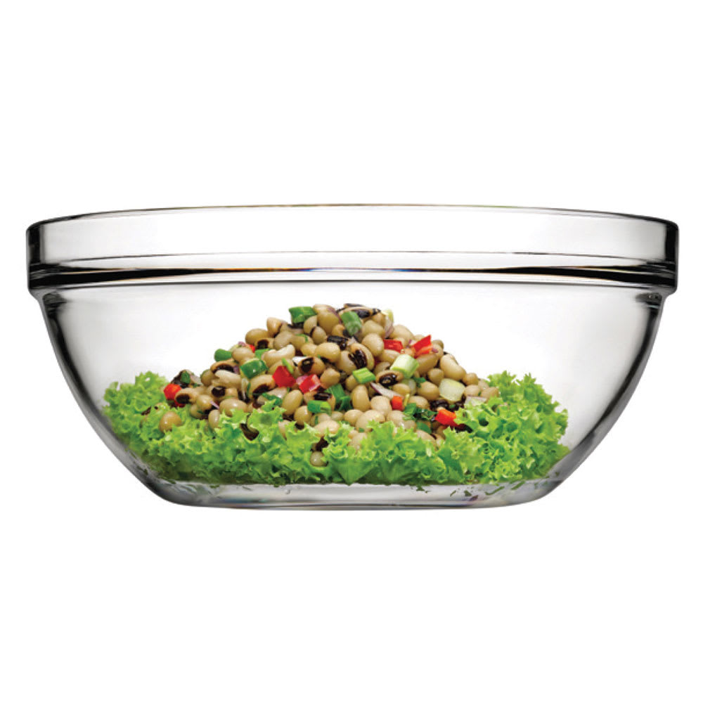 Browne 115008 133.25-oz Pasabahce Chef Bowl - Glass, Clear