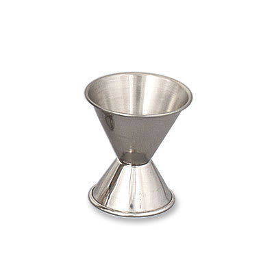 Browne 1290 Double Jigger - 0.5 & 1 oz., Stainless Steel, Polished Outside