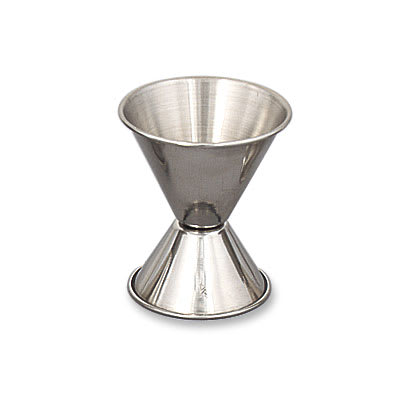 Browne 1291 Double Jigger - 0.75 & 1.5 oz., Stainless Steel, Polished Outside