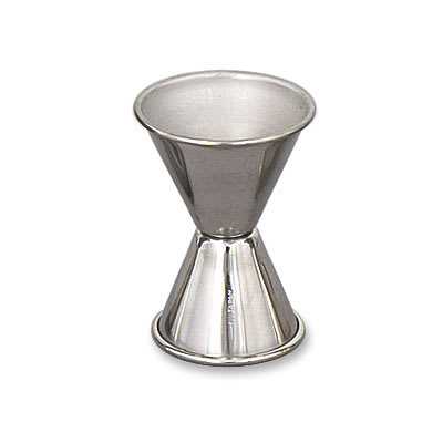 Browne 1292 Double Jigger, 1 & 1.5 oz., Stainless Steel, Polished Outside