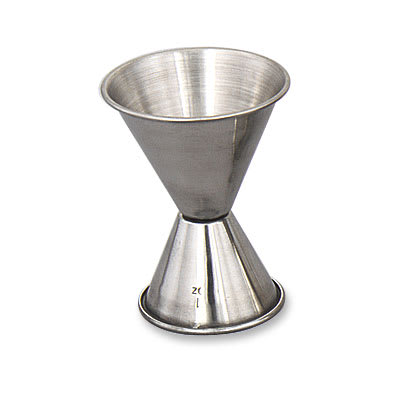 Browne 1293 Double Jigger - 1 & 2 oz., Polished Stainless Steel