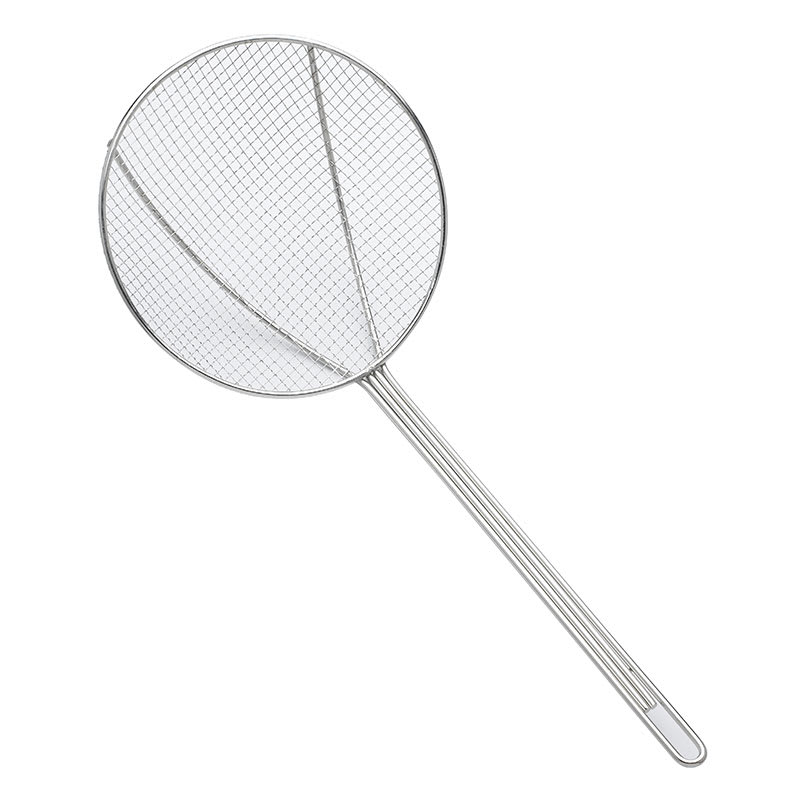 "Browne 1307T 7"" Round Square Mesh Skimmer w/ Long Hooked Handle"