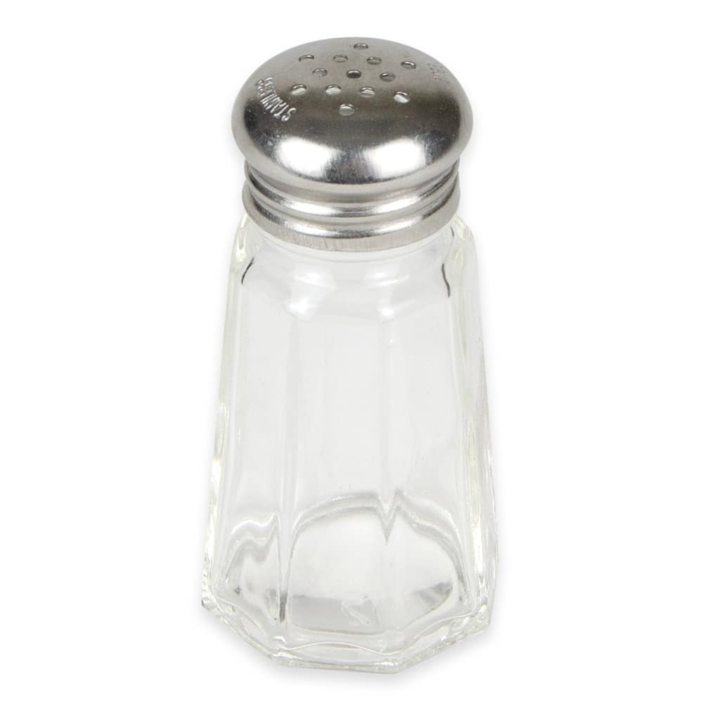 "Browne 571912 3"" Shaker for Salt/Pepper - Metal Lid, Paneled"