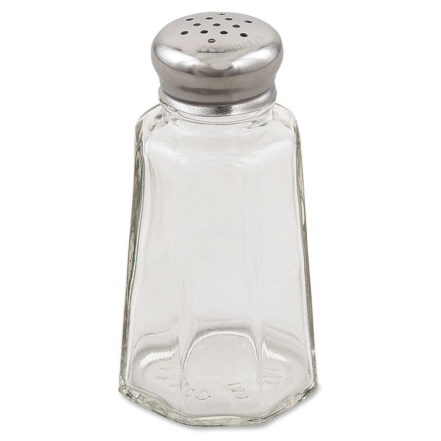 """Browne 571930 3.6"""" Salt/Pepper Shaker w/ Metal Lid, Paneled"""