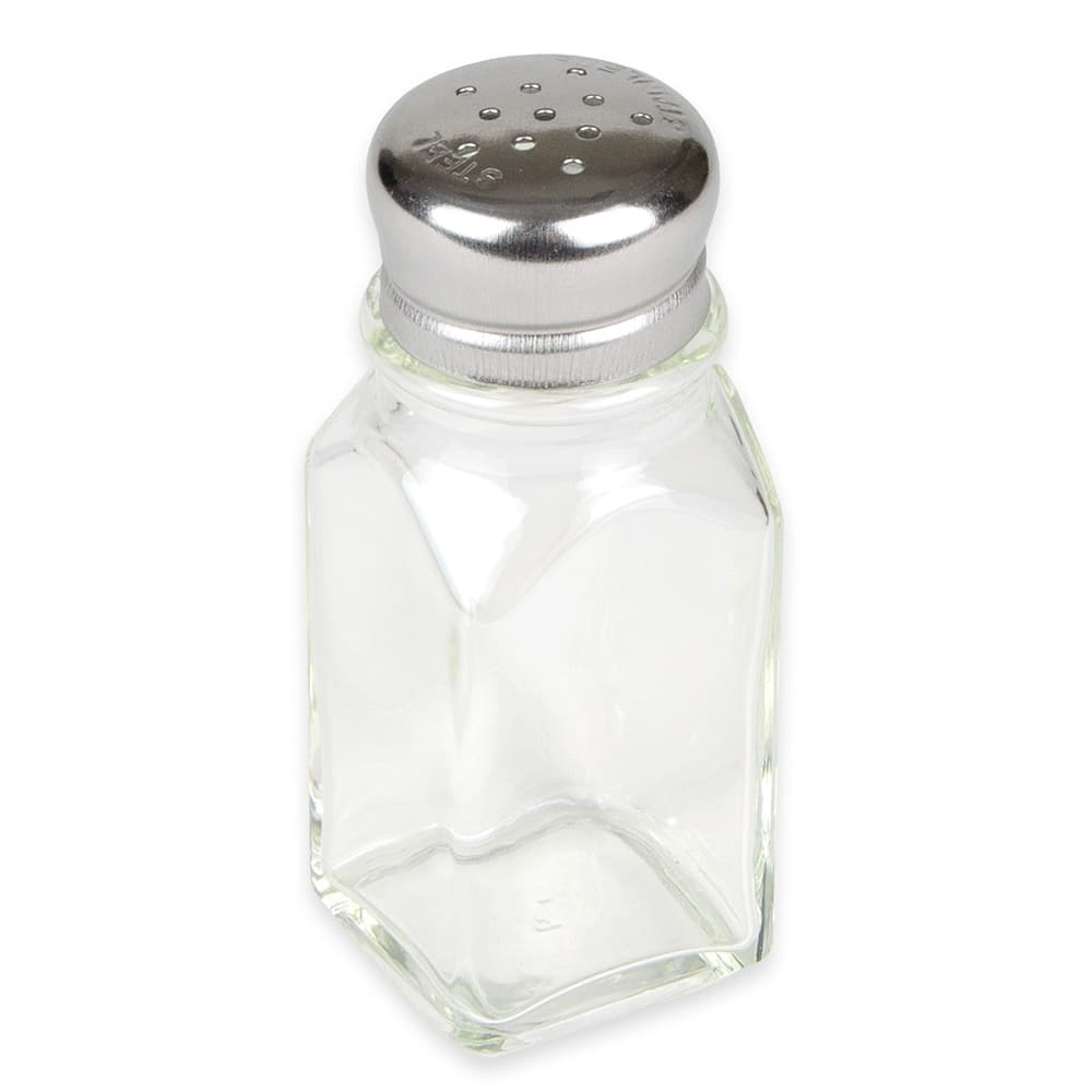 Browne 575183 2-oz Shaker for Salt/Pepper - Metal Lid, Square
