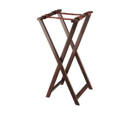 Browne 1552 38 in Folding Tray Stand, Mahogany Wood