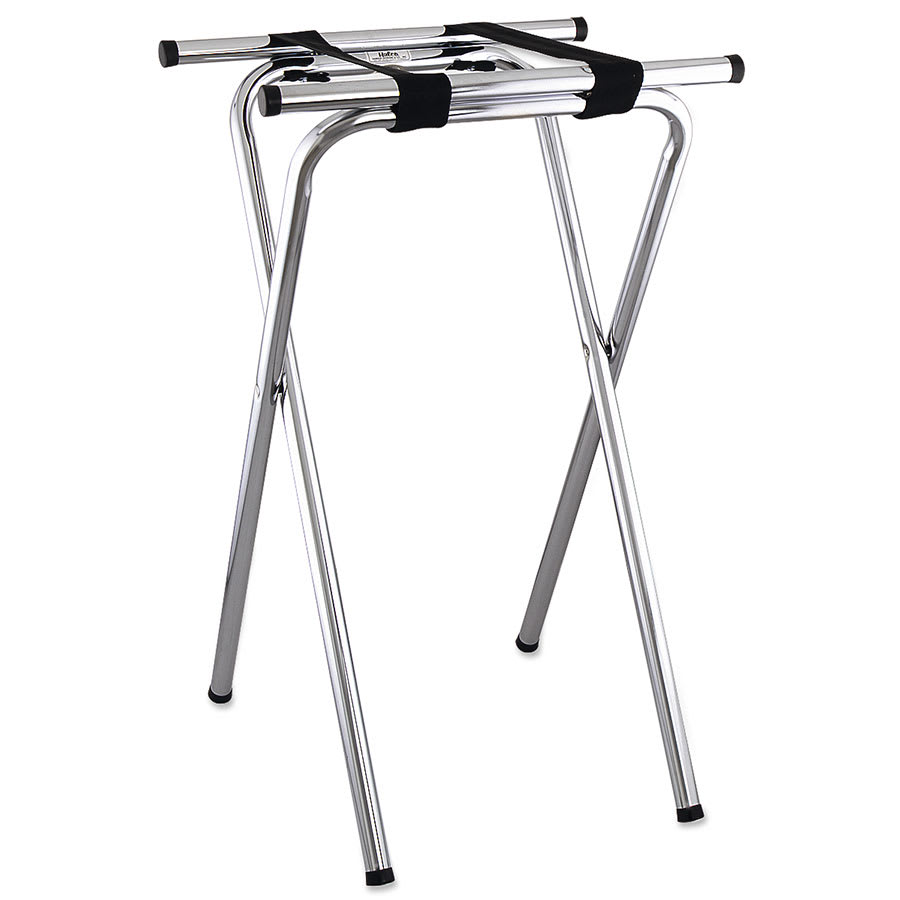 Browne 1586 Tray Stand, Folding, Chrome, 19 x 16 x 31 in, Tubular Steel