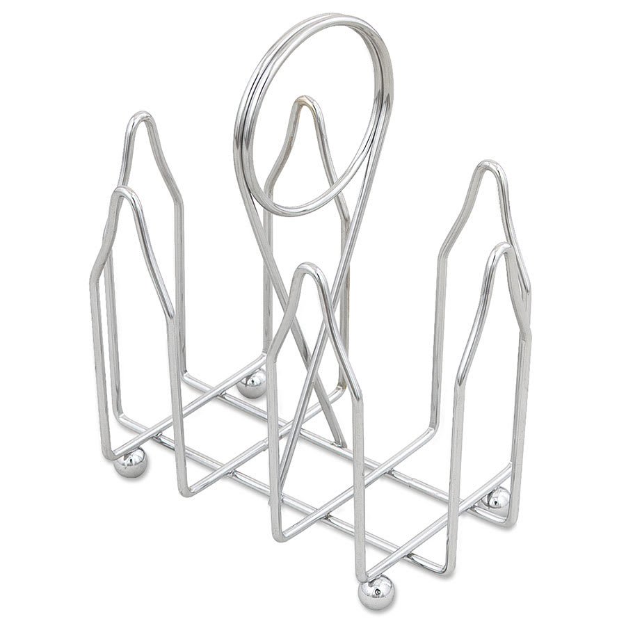 Browne 177 Wire Sugar Pack Holder w/ (2) Compartments, Chome Plated