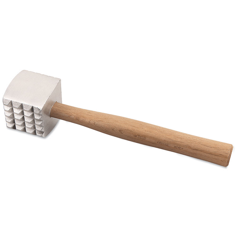 "Browne 574725 Meat Tenderizer, 3 x 3"" Mallet, 11-3/4 in, Aluminum Head & Hardwood"