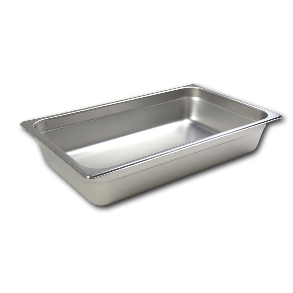 Browne 22004 Full-Sized Steam Pan, Stainless