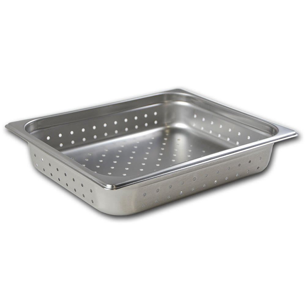 Browne 21212 Half-Sized Steam Pan - Perforated, Stainless