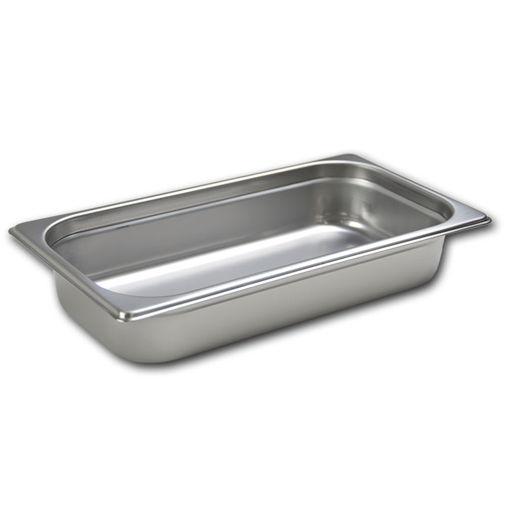 Browne 22132 Third-Size Steam Pan, Stainless