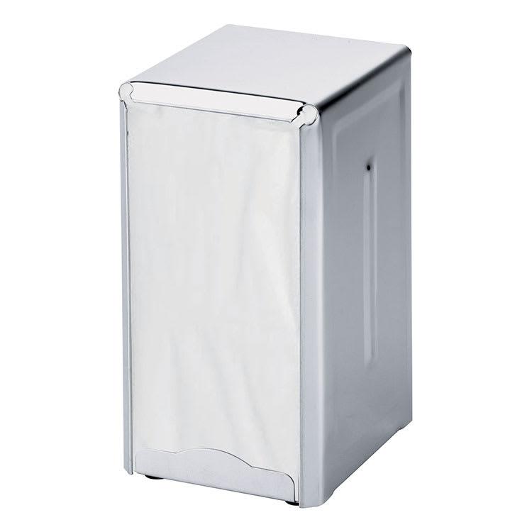 Browne 231S Napkin Dispenser, Holds 3-1/2 x 4-1/4 in, 150 Napkin Capacity, Spring Feed