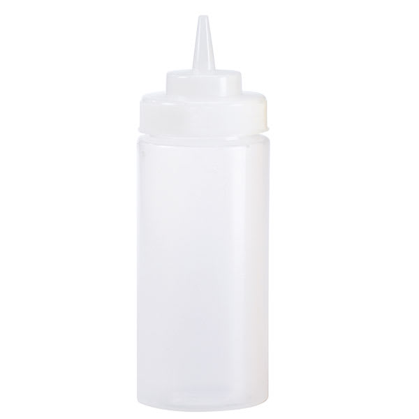 Browne 2403 24 oz Ketchup Squeeze Bottle, No Drip Tip, Clear