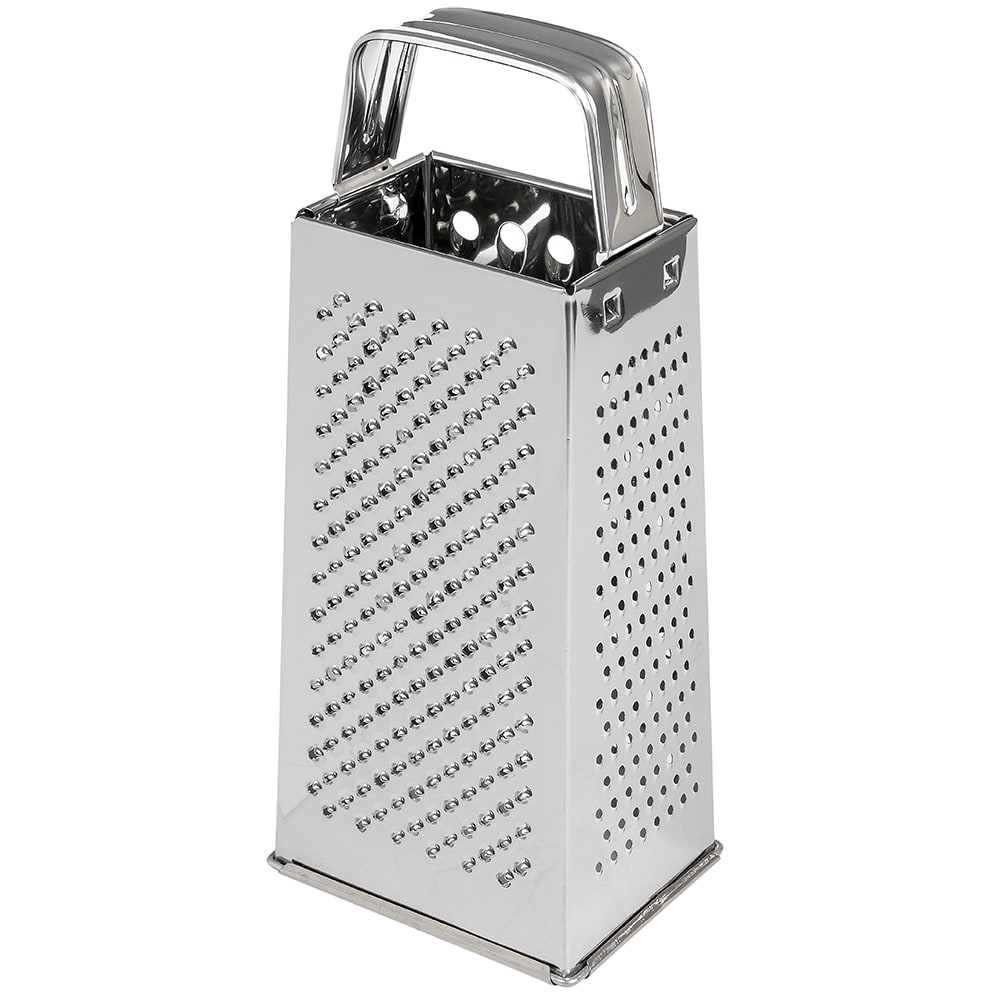 Browne 3199 Square Cheese Grater, 2-Grating & 2-Slicing Surfaces, Stainless