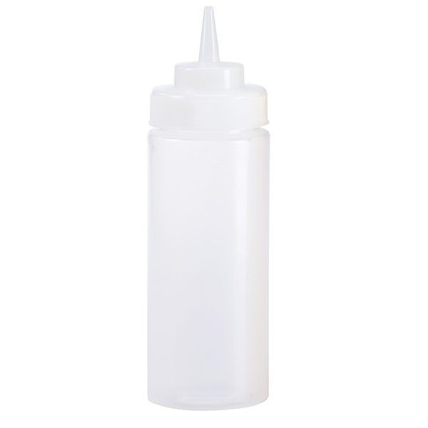 Browne 57803200 32 oz Wide Mouth Squeeze Bottle, No Drip Tip, Clear