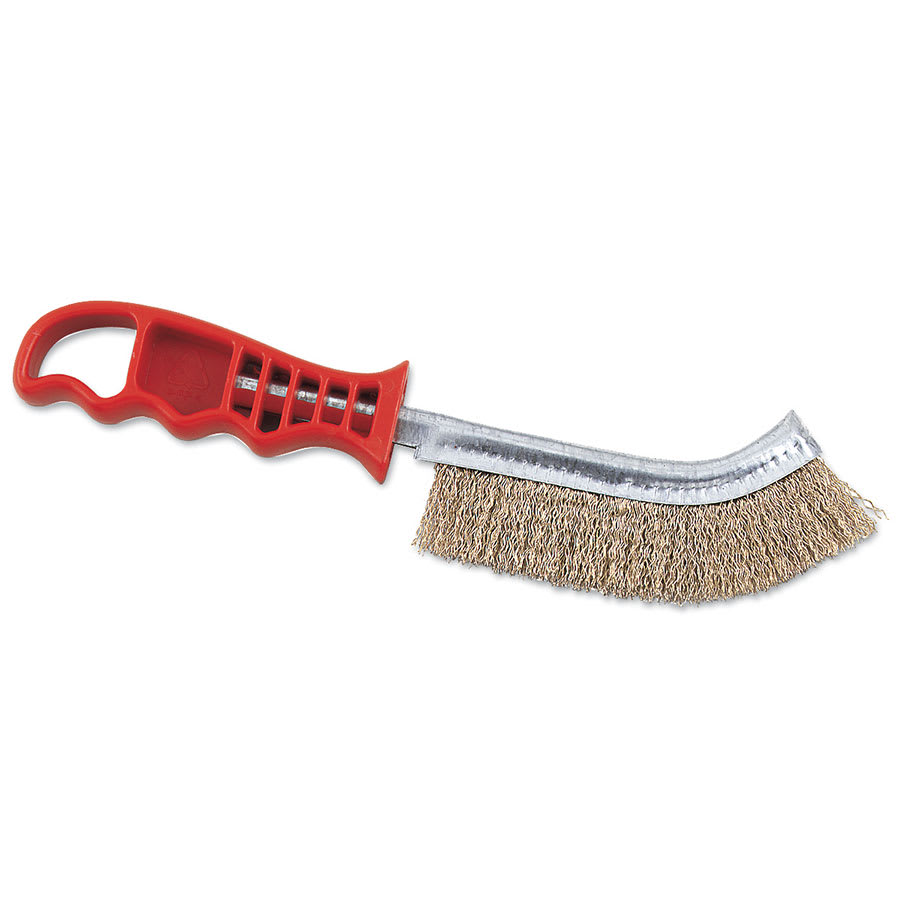 Browne 4203 Broiler/Grill Brush, 11 in, Stiff Wire Bristles