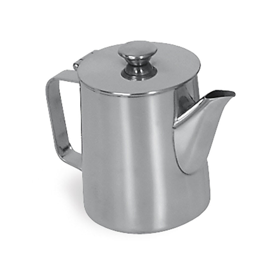 Browne 515001 Contemporary Coffee Pot, 12 oz, 18/8 Stainless Steel, Tall