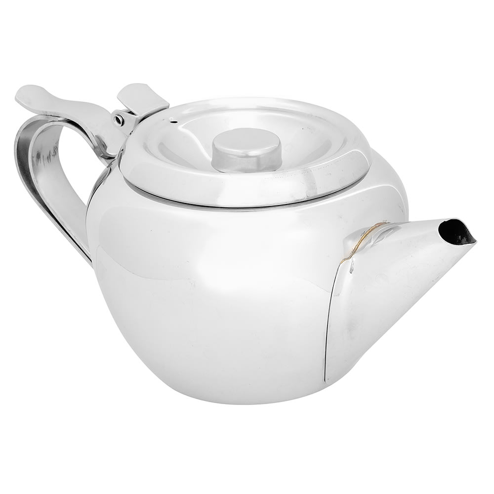 Browne 515151 Stackable Teapot, 18/8 Stainless Steel, 20 oz, Stackable