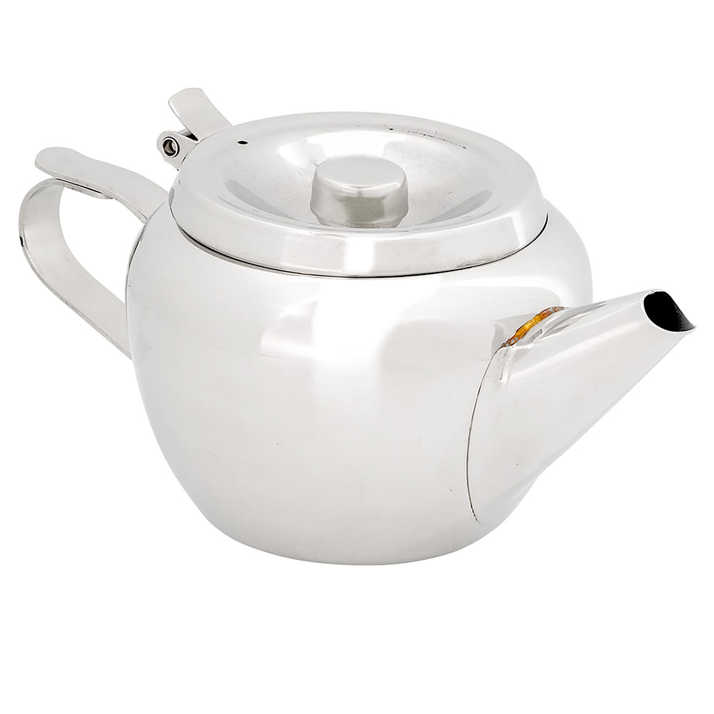 Browne 515152 Stackable Teapot , 12 oz, 18/8 Stainless Steel, Stackable