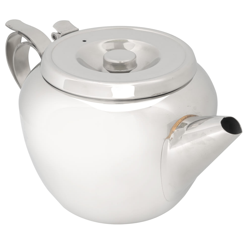 Browne 515154 Stackable Teapot, 48 oz, 18/8 Stainless Steel, Stackable