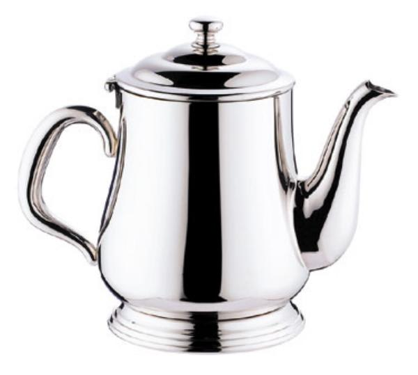 Browne 515830 Paris Teapot, 12 oz, 18/10 Stainless Steel