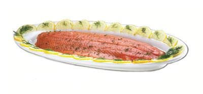 Browne 563877 Salmon / Fish Platter, 23 x 8 x 1-1/4 in, Ceramic, Bright White