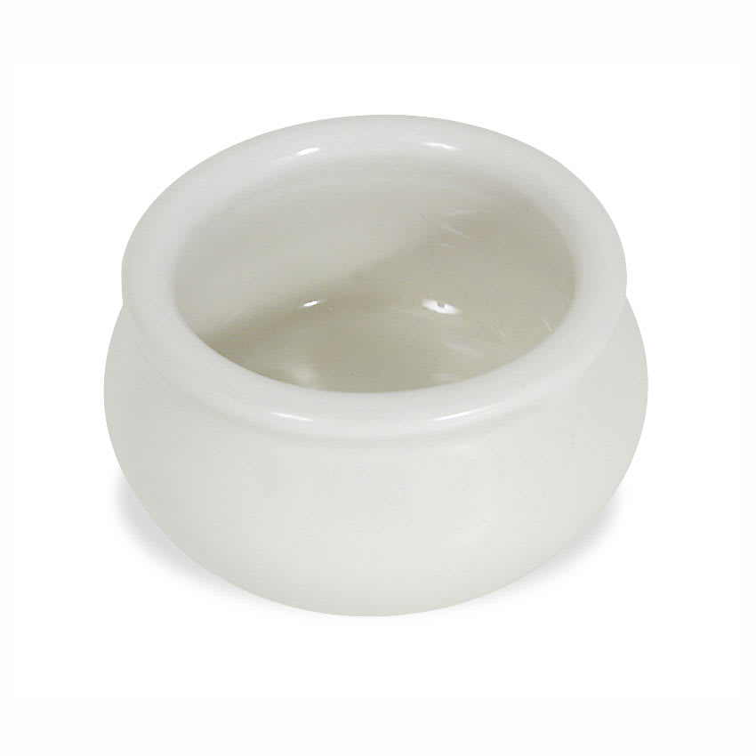 Browne 564002W Butter Pot, Poreclain, White