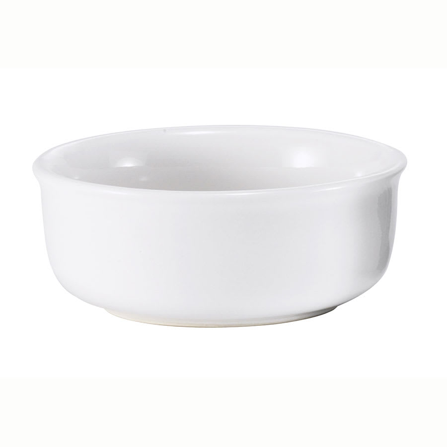 Browne 564005W Ramekin, Ceramic, 8 oz, White