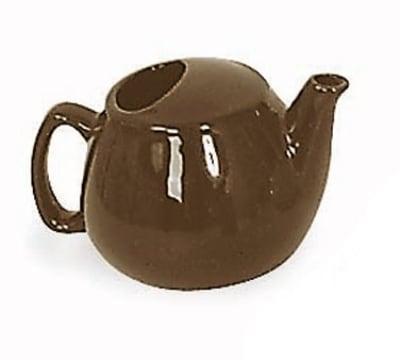 Browne 564023BR 16-oz Brown Ceramic Teapot