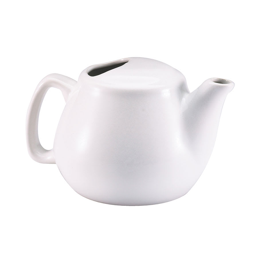 Browne 564023W 16 oz White Ceramic Teapot