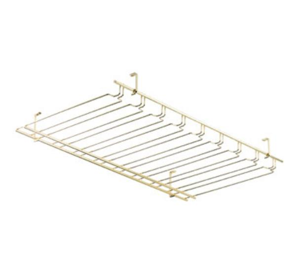 Browne 57183660 Overhead Glass Hanger/ Rack, 8 Slot, Brass
