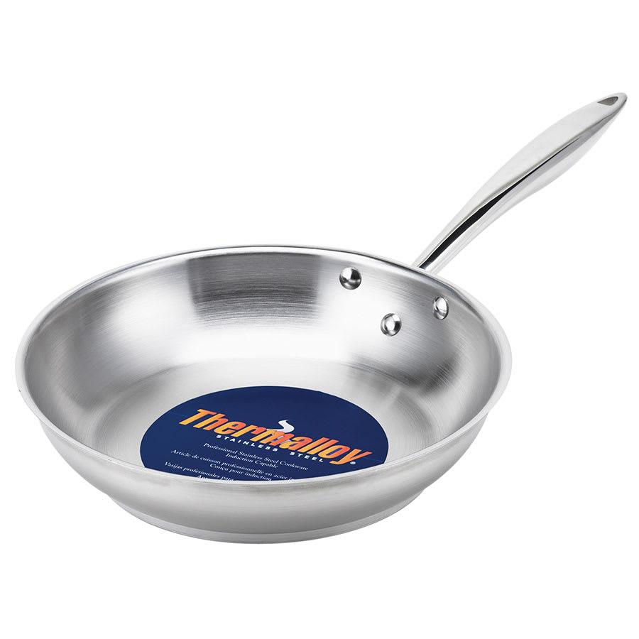 """Browne 5724048 7.75"""" Stainless Steel Frying Pan w/ Solid Metal Handle"""