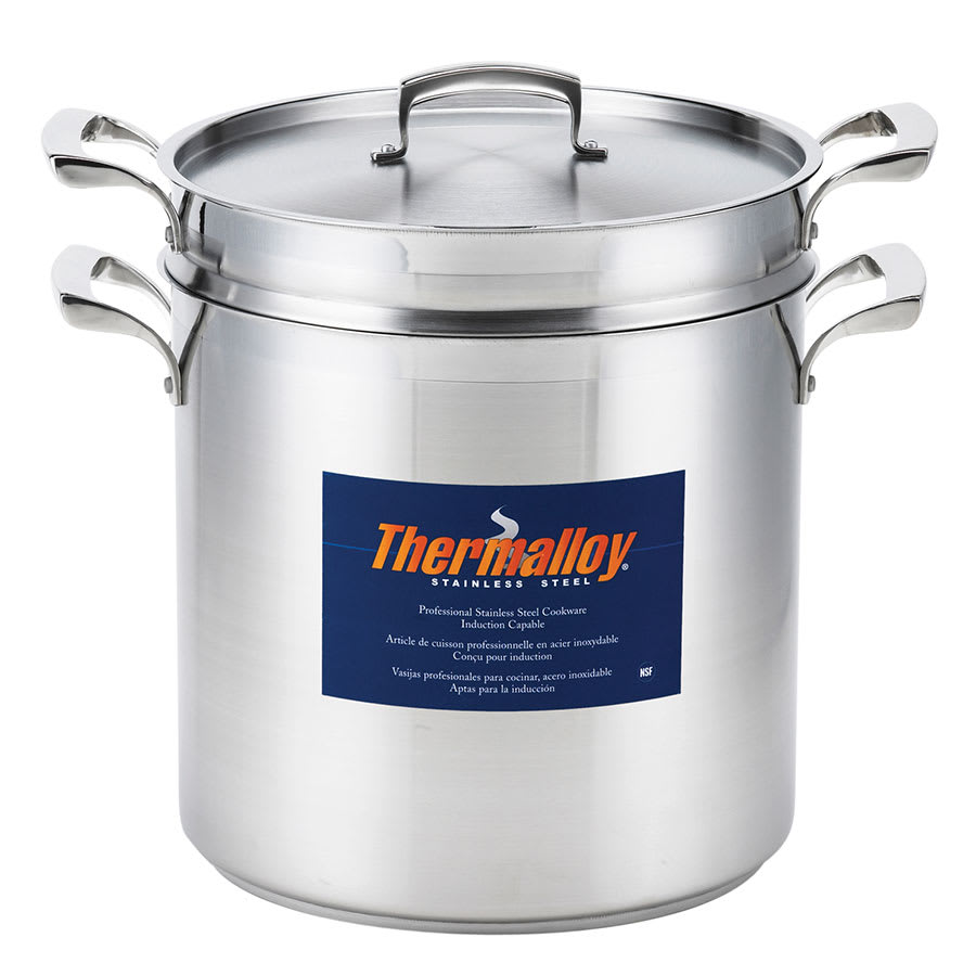 "Browne 5724068 9.5"" Stainless Steel Double Boiler w/ 9-qt Capacity"