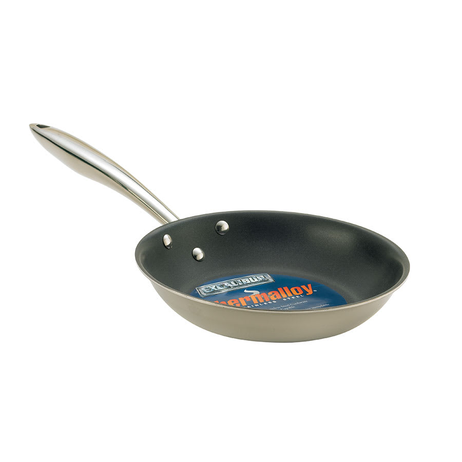 "Browne 5724098 11"" Non-Stick Steel Frying Pan w/ Solid Metal Handle"
