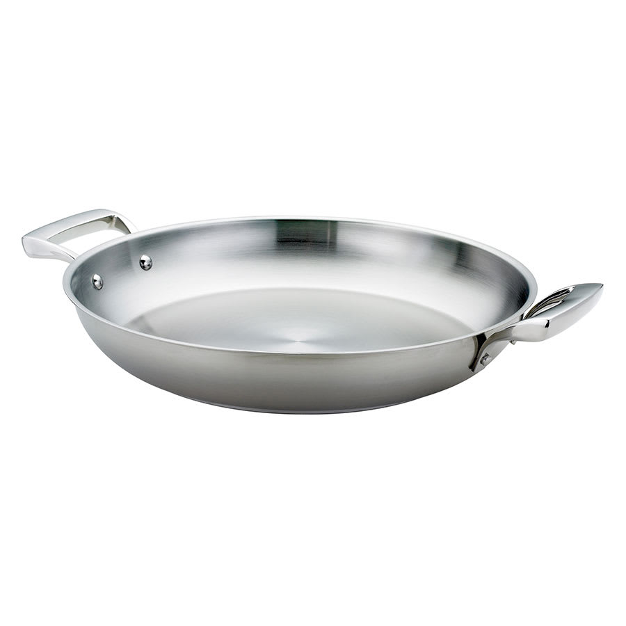 "Browne 5724173 12.5"" Stainless Steel Paella Pan"