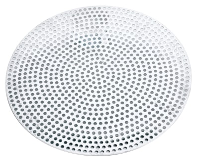 "Browne 57 30018 18"" Perforated Pizza Disk, Aluminum, Natural Finish"