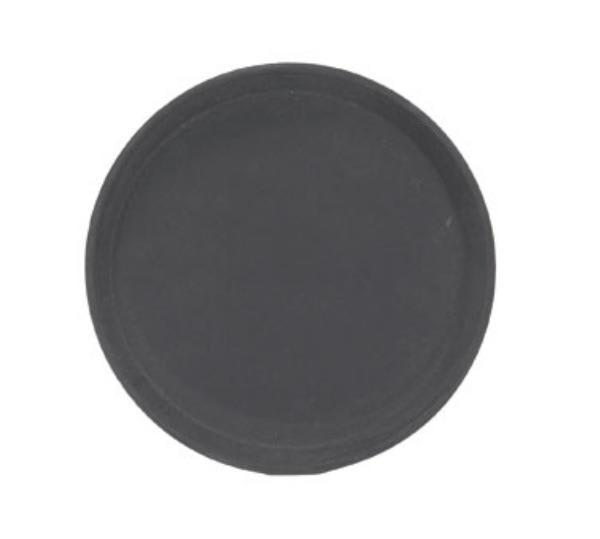 Browne 57410102 Tray, Fiberglass, 11 in Diameter, Anti-Slip, Brown