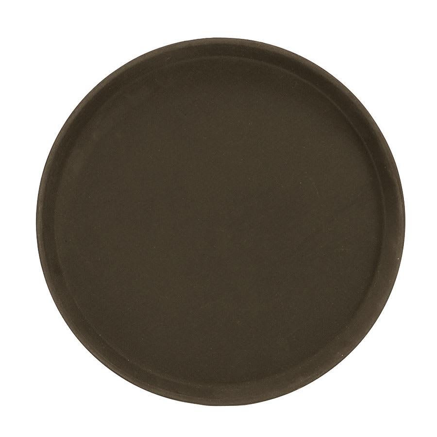"Browne 57410206 14"" Round Tray, Anti-Slip Rubber Coating, Brown Fiberglass"