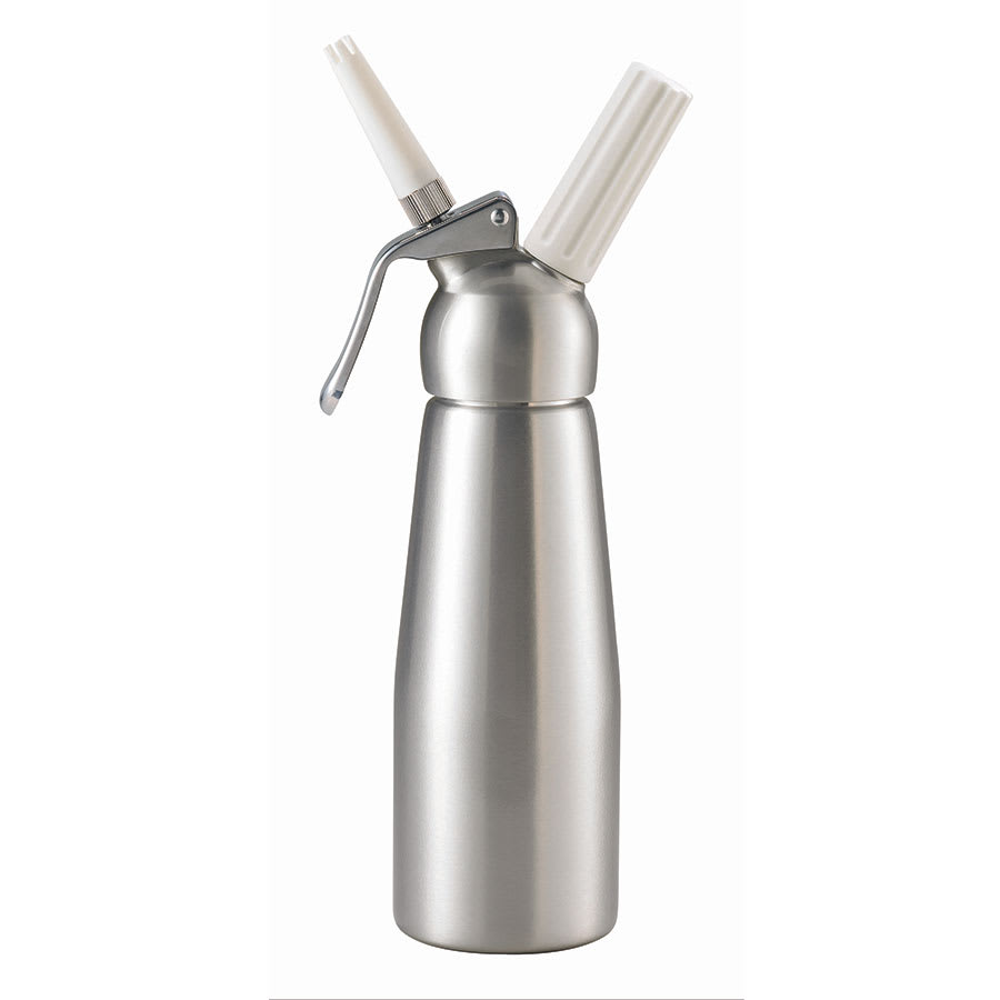 Browne 574350 Whipped Cream Dispenser, 16 oz, Two Nozzles, Aluminum