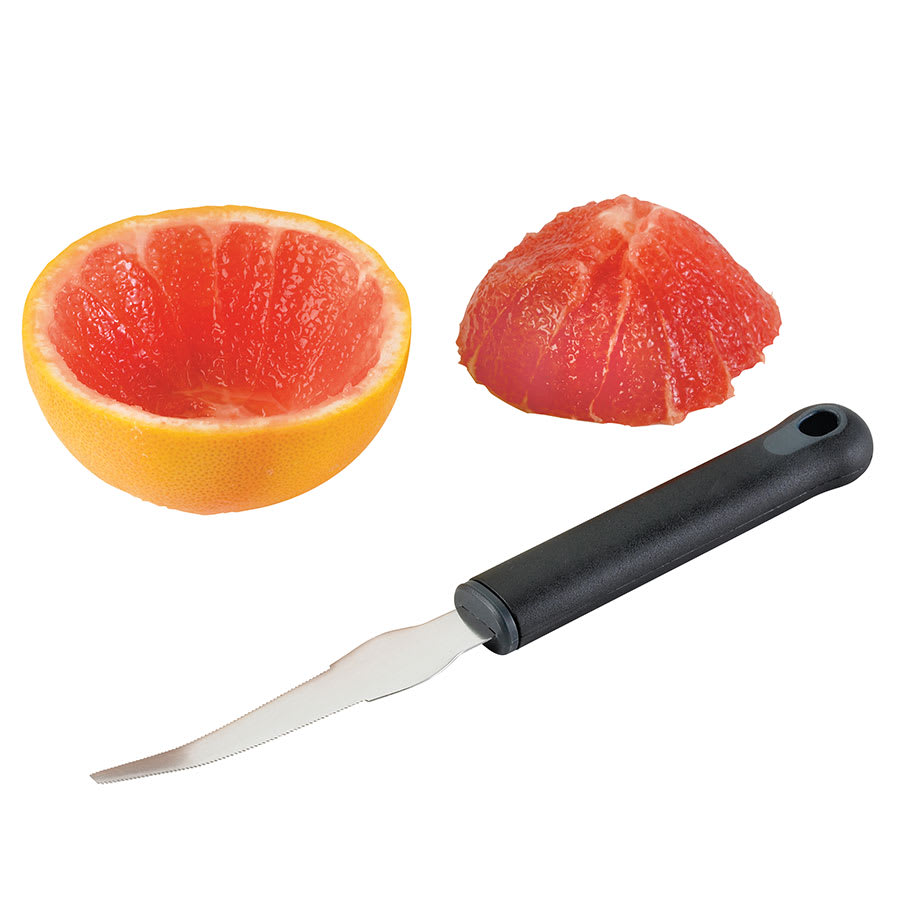 Browne 574449 Stainless Steel Grapefruit Knife, Black Handle