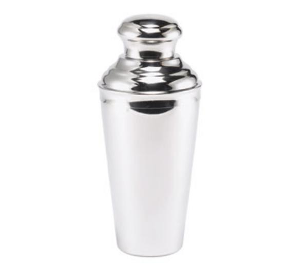 Browne 57505 Cocktail Shaker, 24 oz, 18/10 Stainless Steel, Strainer & Cover Cup