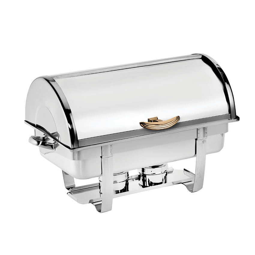 Browne 575135 Full Size Chafer w/ Roll-top Lid & Chafing Fuel Heat