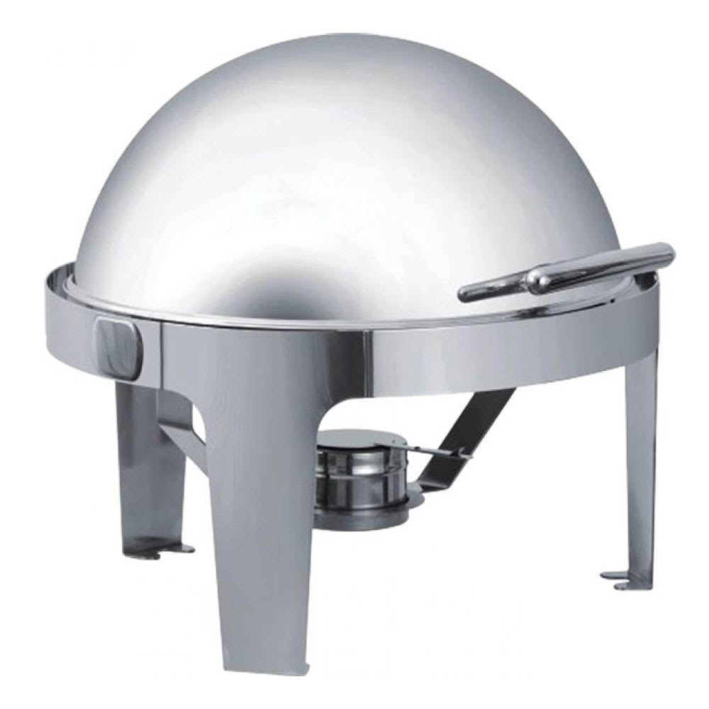 Browne 575138 Round Chafer w/ Roll-Top Lid & Chafing Fuel Heat