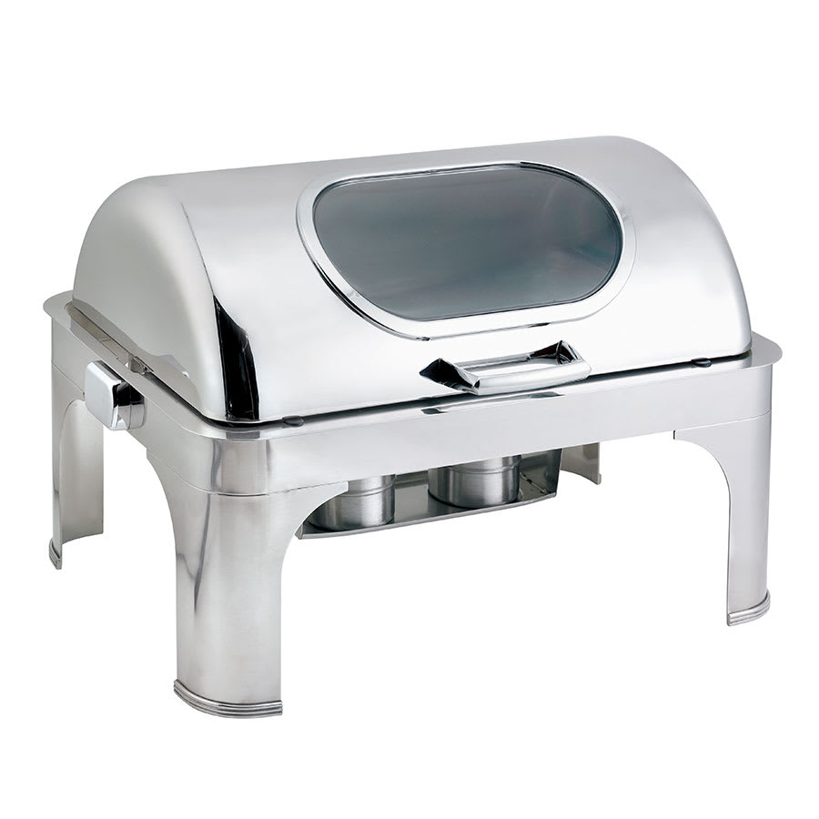 Browne 575166 Full Size Chafer w/ Roll-top Lid & Chafing Fuel Heat