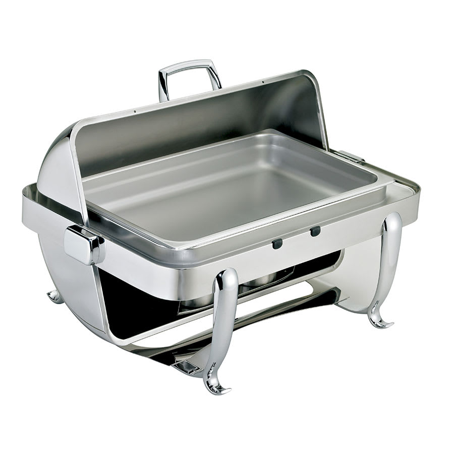 Browne 575170 Full Size Chafer w/ Roll-top Lid & Chafing Fuel Heat