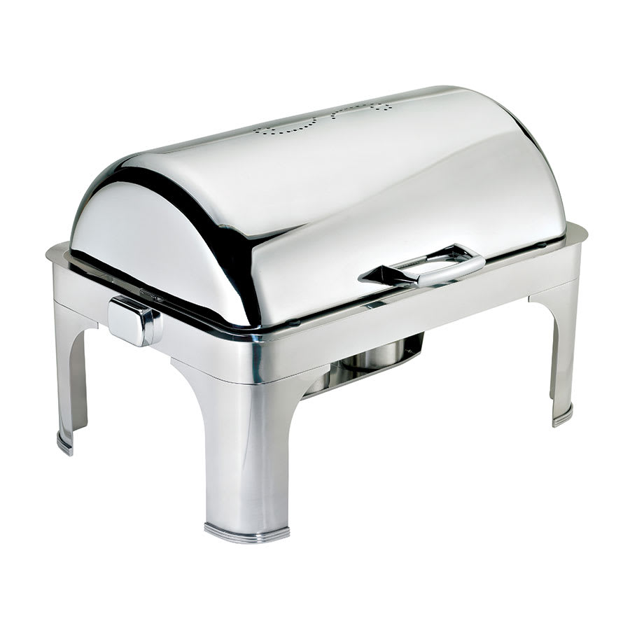 Browne 575175 Full Size Chafer w/ Roll-top Lid & Chafing Fuel Heat