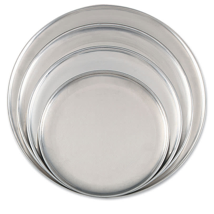 "Browne 575315 Aluminum Pizza Plate, 15"" Diameter, Solid, 1.0 mm Gauge"