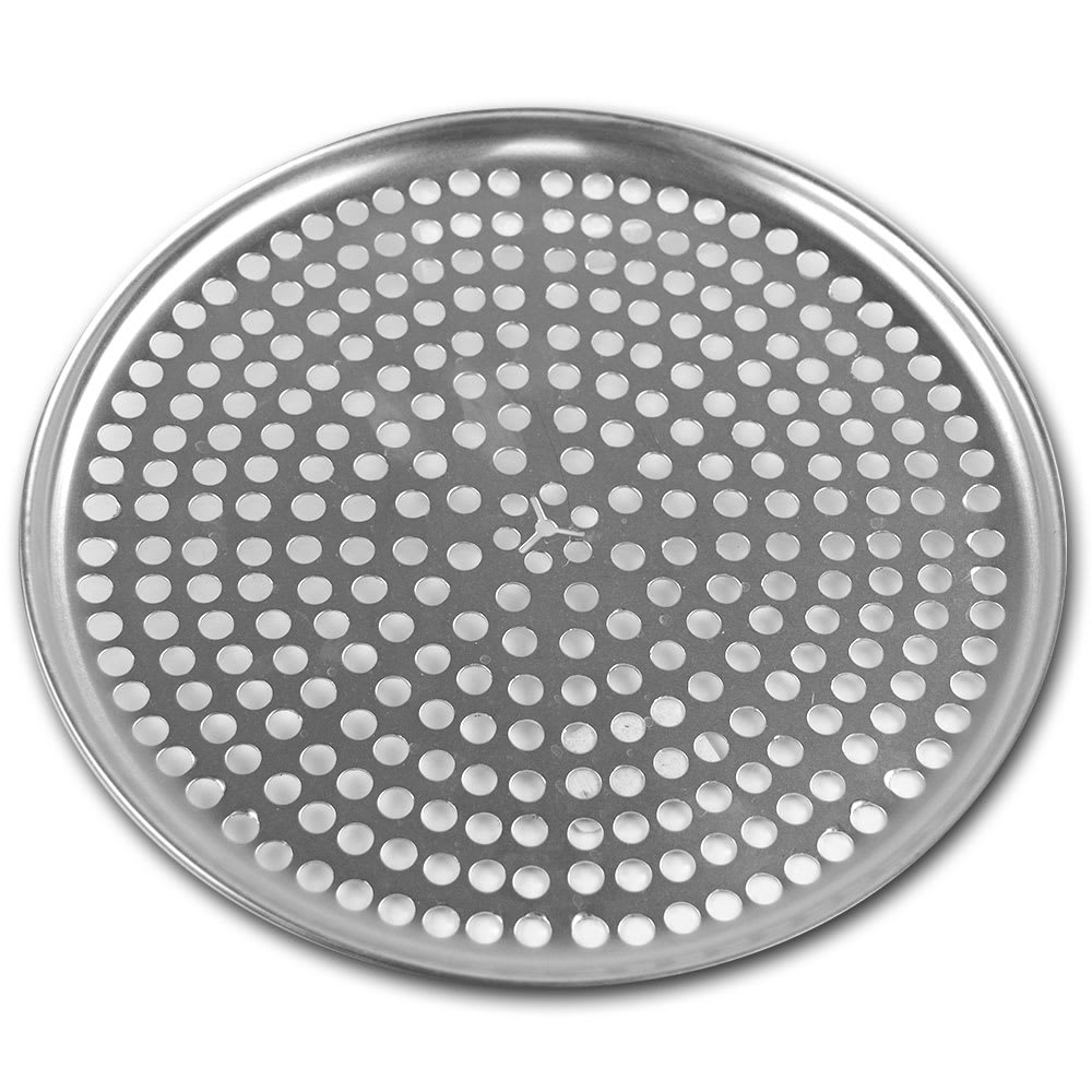 "Browne 575350 Perforated Pizza Plate, 10"" Diameter, 1.0 mm Gauge Aluminum"