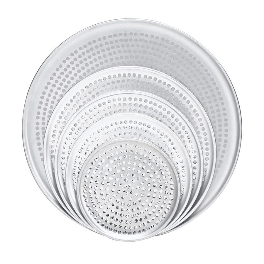 "Browne 575351 Perforated Pizza Plate, 11"" Diameter, 1.0 mm Gauge Aluminum"
